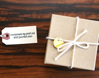 Gift Box Option: Add a 3x3 Jewelry Gift Box Wrapped with Twine