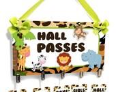 jungle themed teacher funny classroom passes bathroom students pass - HP28