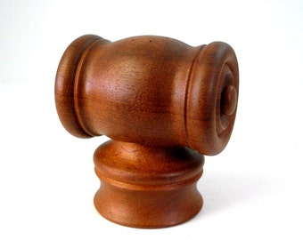1972 Nissen Teak Knight Mill Danmark Peugeot Grinder Salt Pepper 0283 Danish Modern Design Chess Piece Denmark Rare