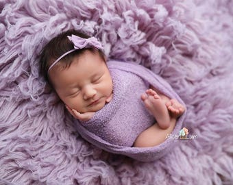 LAVENDER BOW HEADBAND, Newborn Headband, Bow Headbands, Small Bows, Baby Headband, Lavender Headband Baby, Bow Headbands, Lavender Headband