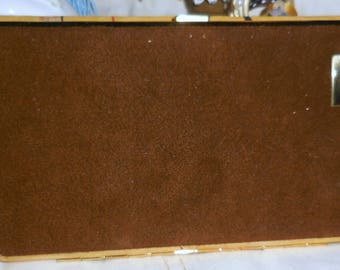 Suede Cigarette Case Made In Germany / Business Card Case  / Tobacciana