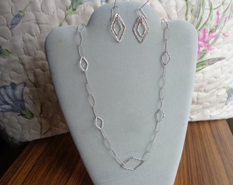 Sterling silver ,925 necklace & earring set.