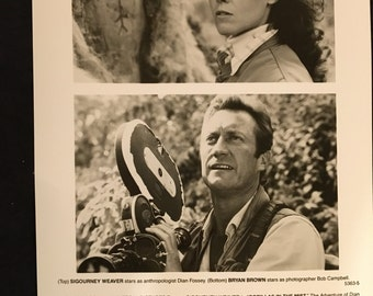 Movie photo from Gorillas in the Mist with Sigourney Weaver and Bryan Brown.