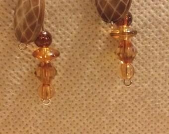 Amber earrings, Drop earrings, Beaded earrings