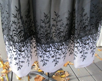 2 piece black embroidery hem white lined spaghetti strap dress with jacket size 10
