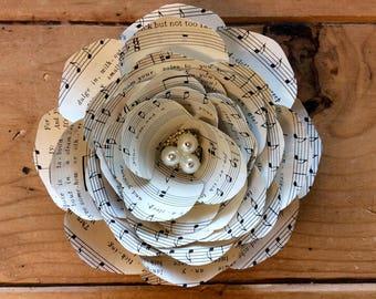 Vintage Sheet Music Paper Flower