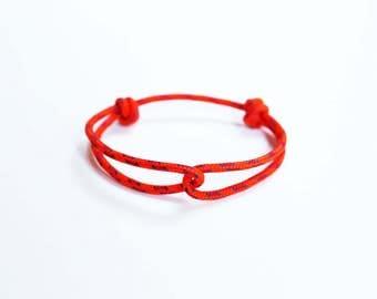 Rope Bracelet - Unisex Hugging Loop Rock Climbing Bracelet - Orange