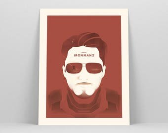 Iron Man Print ~ Tony Stark, Movie Poster, Film Gift, Art Print by Christopher Conner