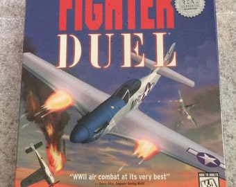 Fighter Duel PC CD-Rom Game WWII Air Combat Dogfighters Realistic Win 95