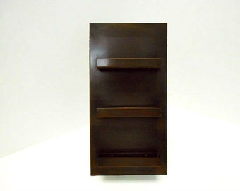 Triple Business Card Holder Copper Bronze Patina