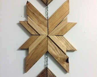 Hanging Wood Wall Art w/ Tassel
