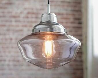 Pendant Lights - Schoolhouse Pendant -  Hanging Pendant Light - Industrial Shade Pendant - Industrial Hanging - Mid Century Modern