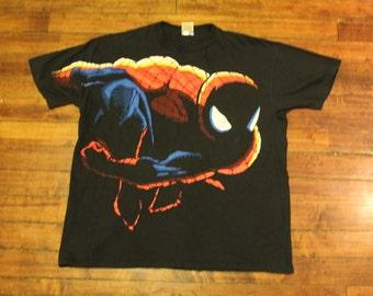Spiderman shirt graphic tee marvel comics 1994 vintage spider-man tshirt