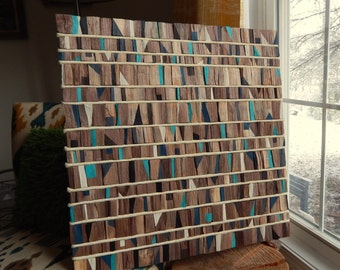 Rustic Reclaimed Wood Wall Art, Tribal, Modern, Industrial READY TO SHIP