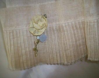 Antique silk ribbon work authentic 1920s