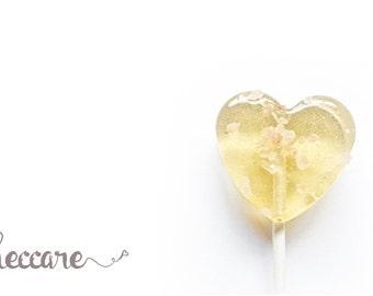 100 Summer Wedding Favors // Salted Caramel Lollipops // Gold Wedding Favors // Spring Wedding // Fall Wedding // Heart Lollipops