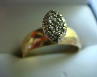 Gold Ring with Tiny Diamonds