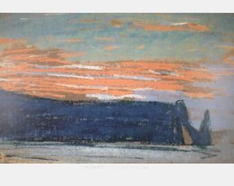 Claude Monet-La Falaise D'Etretat-1997 Poster