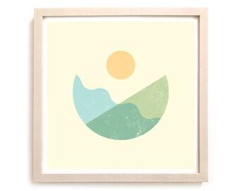 "Surfing Art Print ""Balance"""