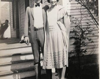 Flapper & Boyfriend Wayland and Grace Vintage Photo Flaming Youth