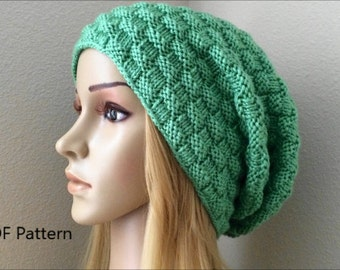 PDF Pattern, How To Knit A Basketweave Hat
