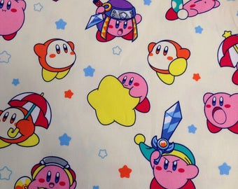 Nintendo Kirby / Japanese Fabric 110cm x 100cm