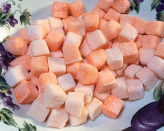 PEACH FLAVORED  Sugar Cubes for Wedding Champagne Toasts, Tea Bars, DIY Favors, Gift Ideas