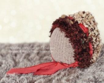 Newborn Hat. Baby Bonnet. Newborn Bonnet. Baby Hat. Eskimo Hat. Crochet Pixie Hat. Boys Hat. Christmas / Winter Photo Prop. UK SELLER