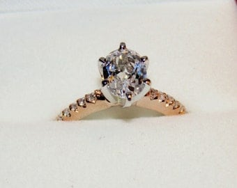 14k Rose Gold Sapphire Engagement Ring