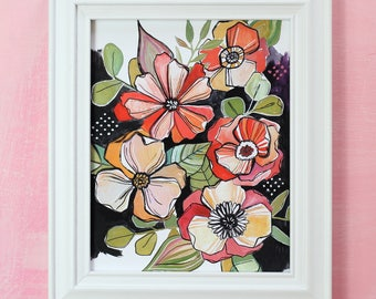 Mod Poppies - Makewells Art Print - Floral