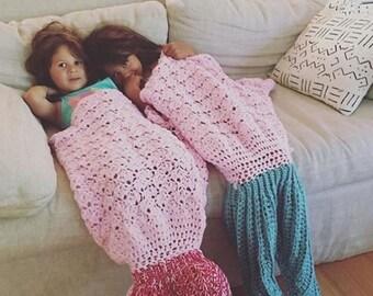 Crochet Mermaid Tail Blanket - Canadian Handmade Worldwide shipping.  Handmade beach/couch blanket. Christmas gift. Photography