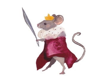 Mouse King pack of 5 holiday cards.
