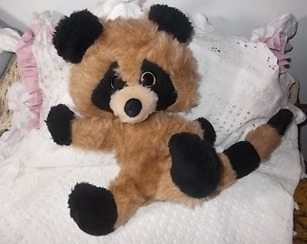 Raccoon Stuffed Raccoon Sweet, Vintage Toys, Vintage Stuffed Toys, Raccoon, Vintage Stuffed Animals, Vintage Plushie Toy Animals