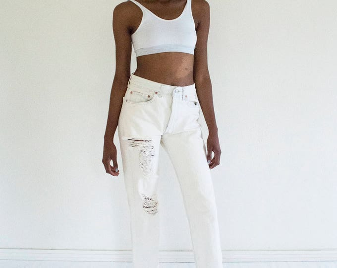 LEVI'S 501 High Waist White Jeans size 28/29