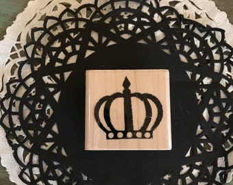 Crown Stamp / Crown Rubber Stamp by Stampabilities for Tags, Cards, Journals, Mixed Media, Altered Art, etc.