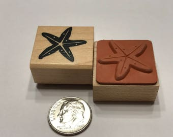 small starfish rubber stamp, 20 mm (BB4/2)