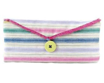Rainbow Wallet - Colorful Wallet - Women's Wallet - Women's Billfold - Stripe Wallet - Bifold Wallet - Pink Wallet -