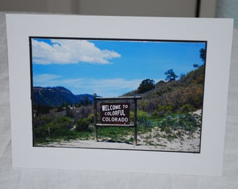 photo card, Welcome to Colorado, photography