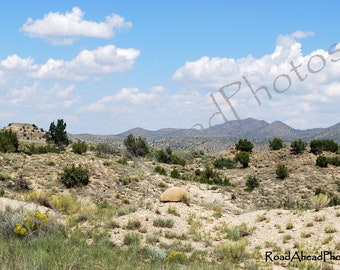 New Mexico photography, Turquoise Trail, Southwest landscape,  8 x 10 matted photo