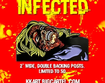 INFECTED soft enamel pin