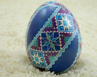 Ornamental Band in Blue & Plum Pysanky