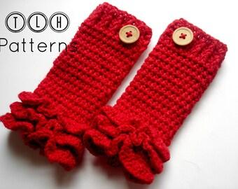 Crochet legwarmer pattern, crochet leg warmer, Ruffles legwarmer, newborn to 2 years - Pattern No. 16