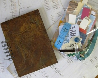 Junk Journal Inspiration kit-comes with a bag of 100 bits and bobs for embellishment