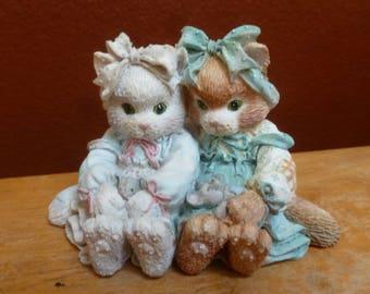 Enesco 1992 Priscilla Millman Cat Callico Kittens We're A Purr-fect Pair figurine