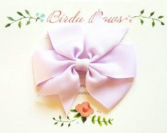 Lavender Bow Clip, Baby Headbands, Infant Headbands, Baby Girl Headbands, Infant Bow, Baby Bow, Girl Bow,Girl Headbands