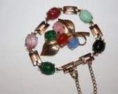 Vintage Scarab Bracelet, Scarab Brooch Set 1950s Jewelry