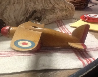 Vintage 1950's Wood Higgins Toy Plane