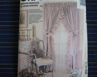 vintage 1980s McCalls sewing pattern 4402 Window essentials treatments curtains draps valances