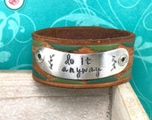 Do It Anyway Leather Chick Cuff