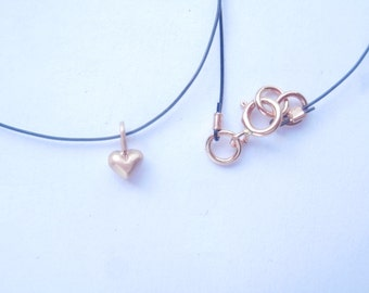 Love is in the Air Necklace Solid 18K  Rose gold